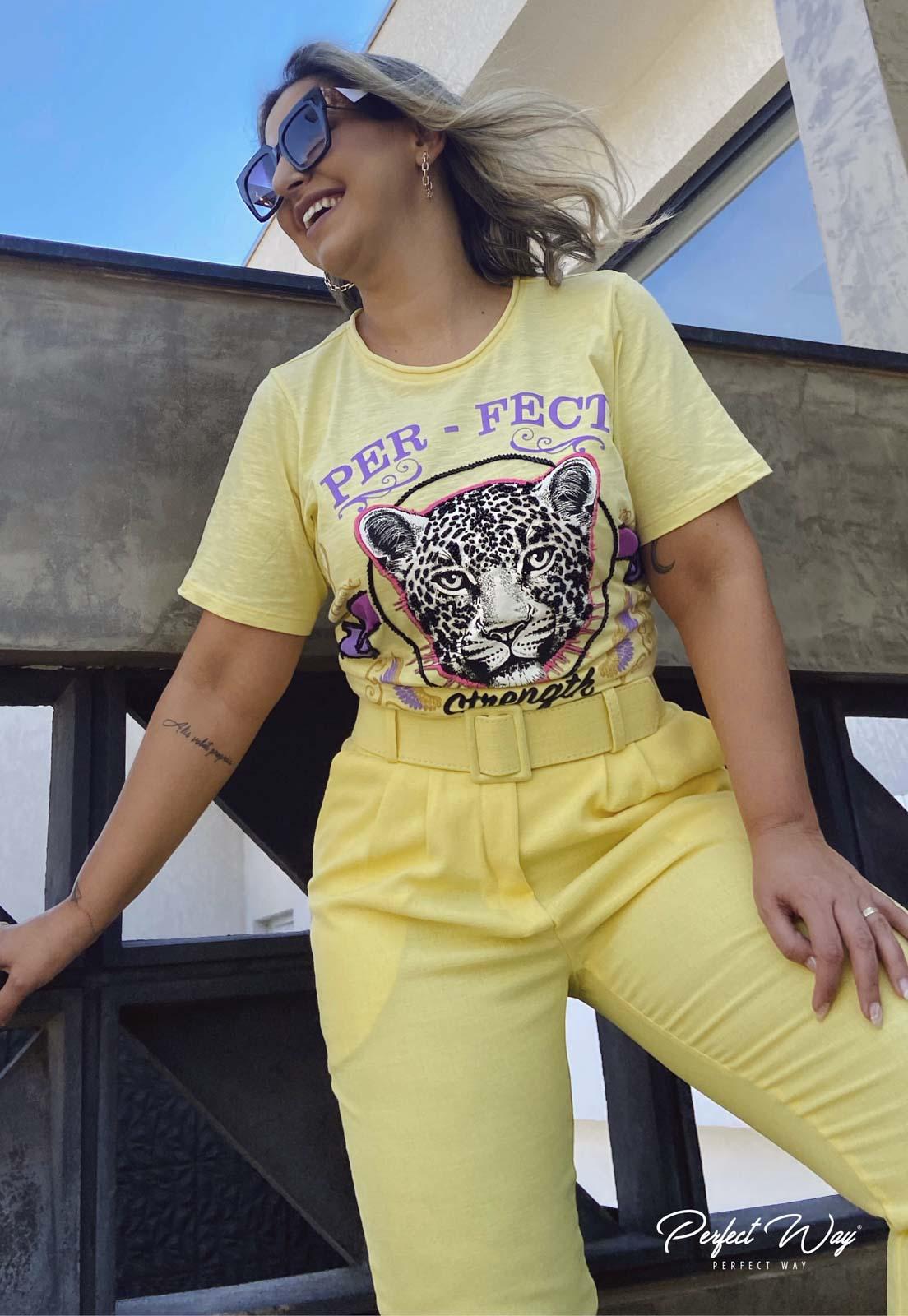 T-SHIRTS TIGRE BORDADA - PERFECT WAY