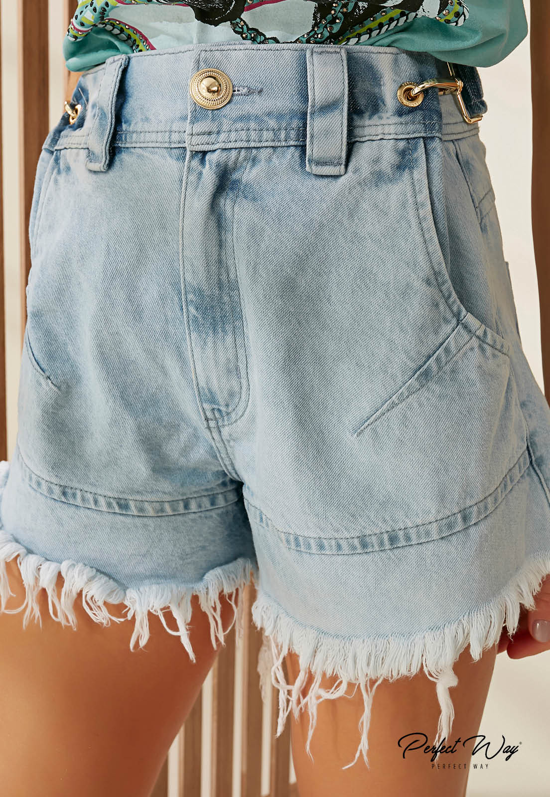 SHORTS JEANS C/ CINTO PERFECT WAY