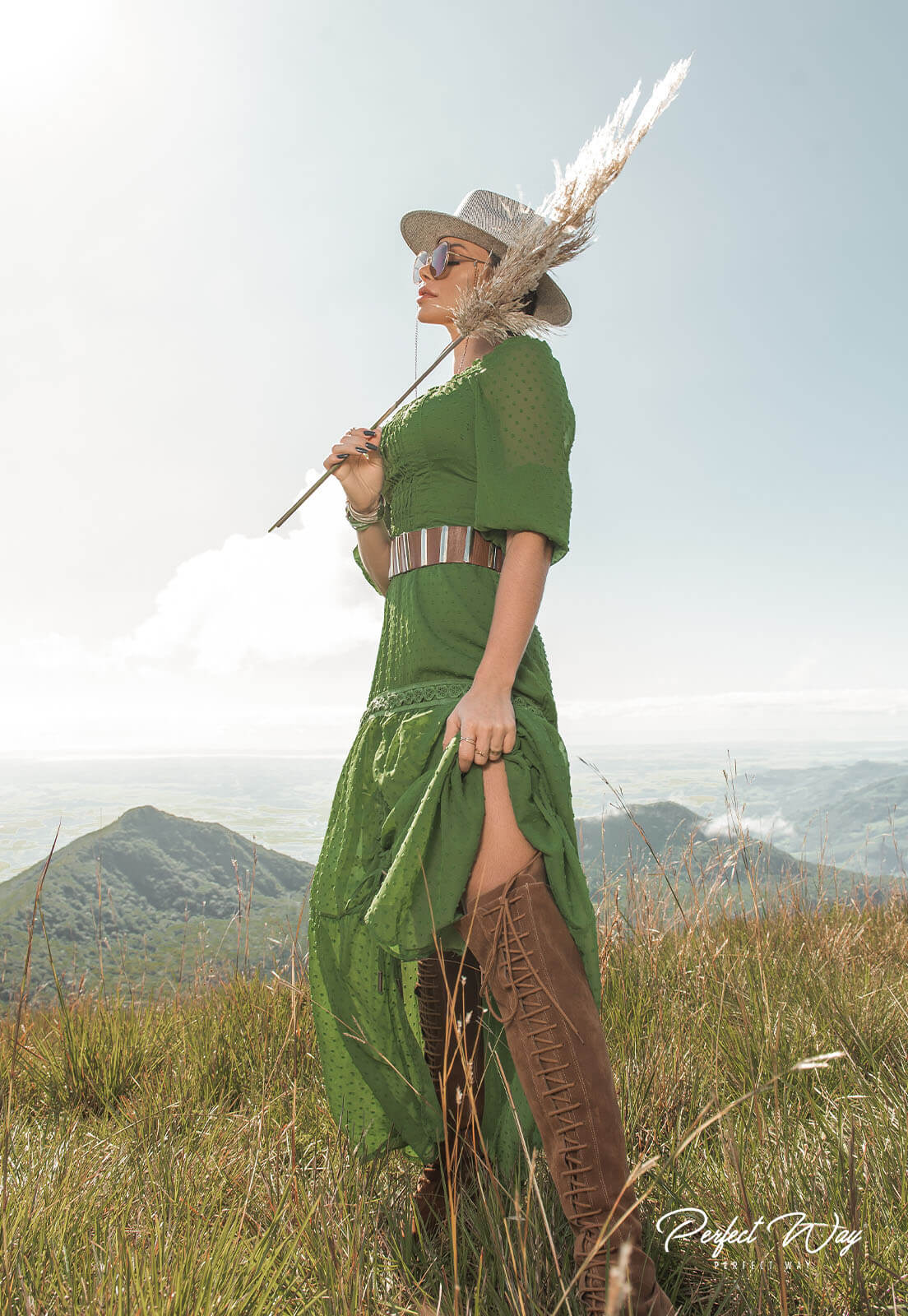 vestido longuete detalhe guipure - PERFECT WAY