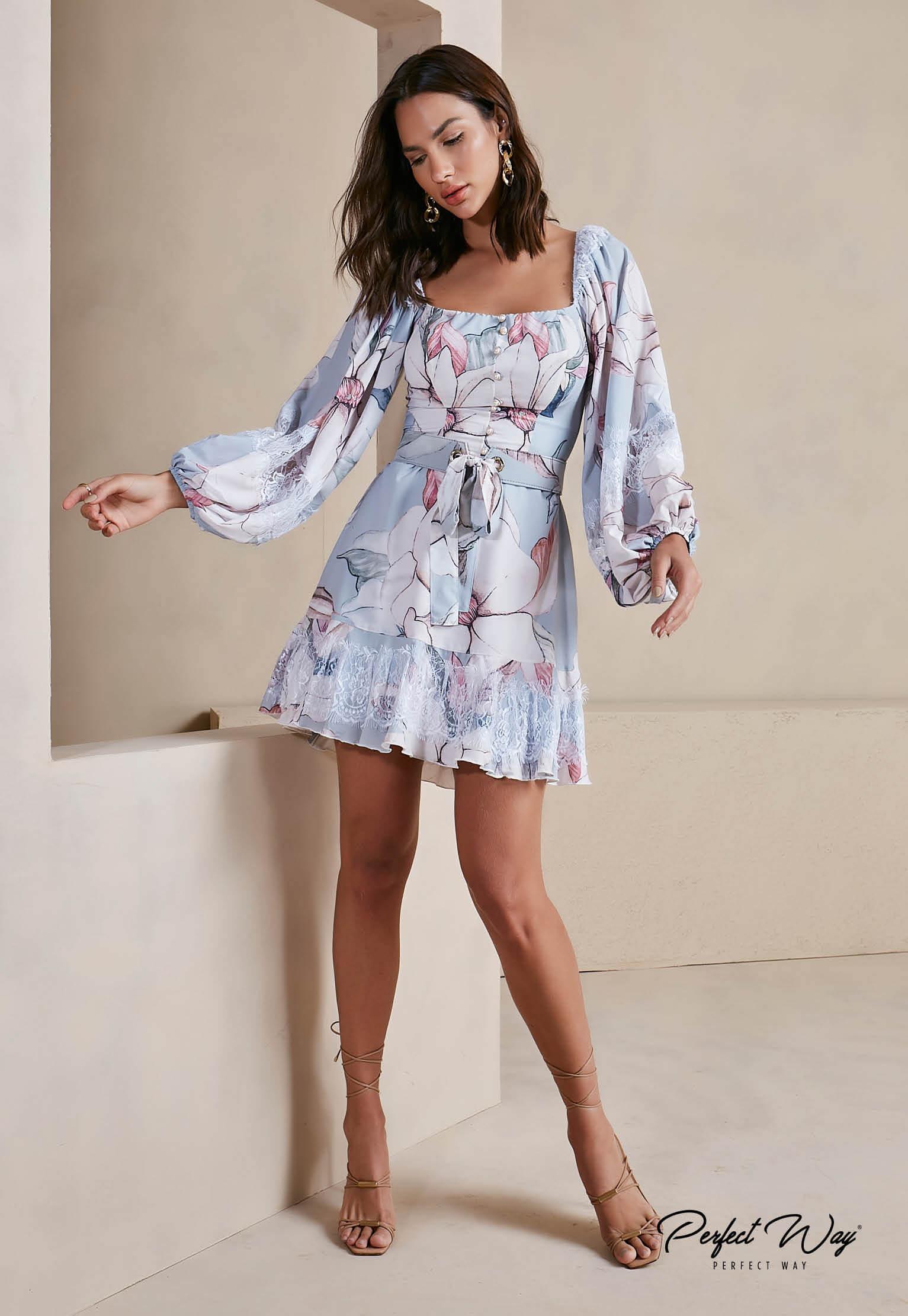 vestido estampa exclusiva despojado + cinto - PERFECT WAY