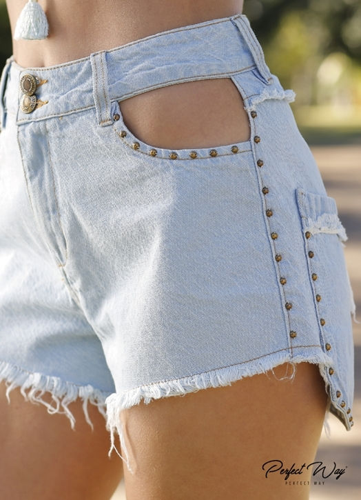 SHORTS JEANS CÓS ALTO PERFECT WAY