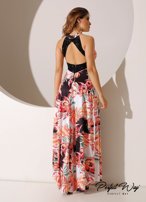 VESTIDO LONGO  EST. EXC. FLORAL PERFECT WAY