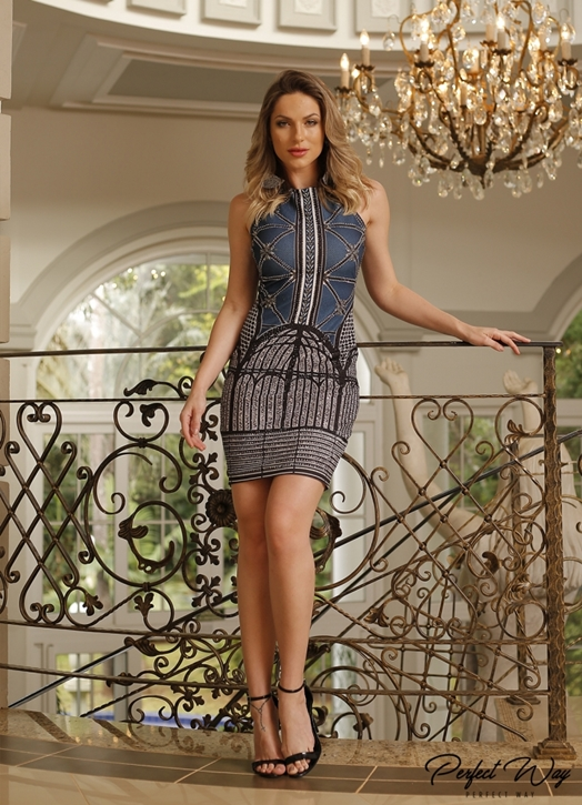 VESTIDO EST. EXC. BOTANICO COM TERMO - PERFECT WAY