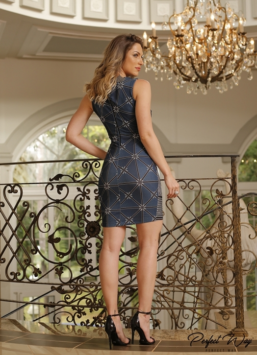 VESTIDO EST. EXC. BOTANICO COM TERMO PERFECT WAY