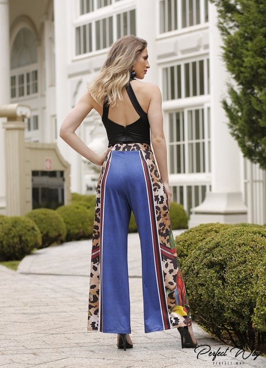 calça pantalona est. exc. onça / flores PERFECT WAY