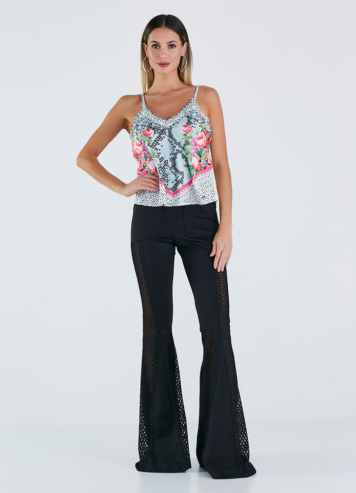 BLUSA PLANA EST. EXC. DE ALCINHA  - PERFECT WAY