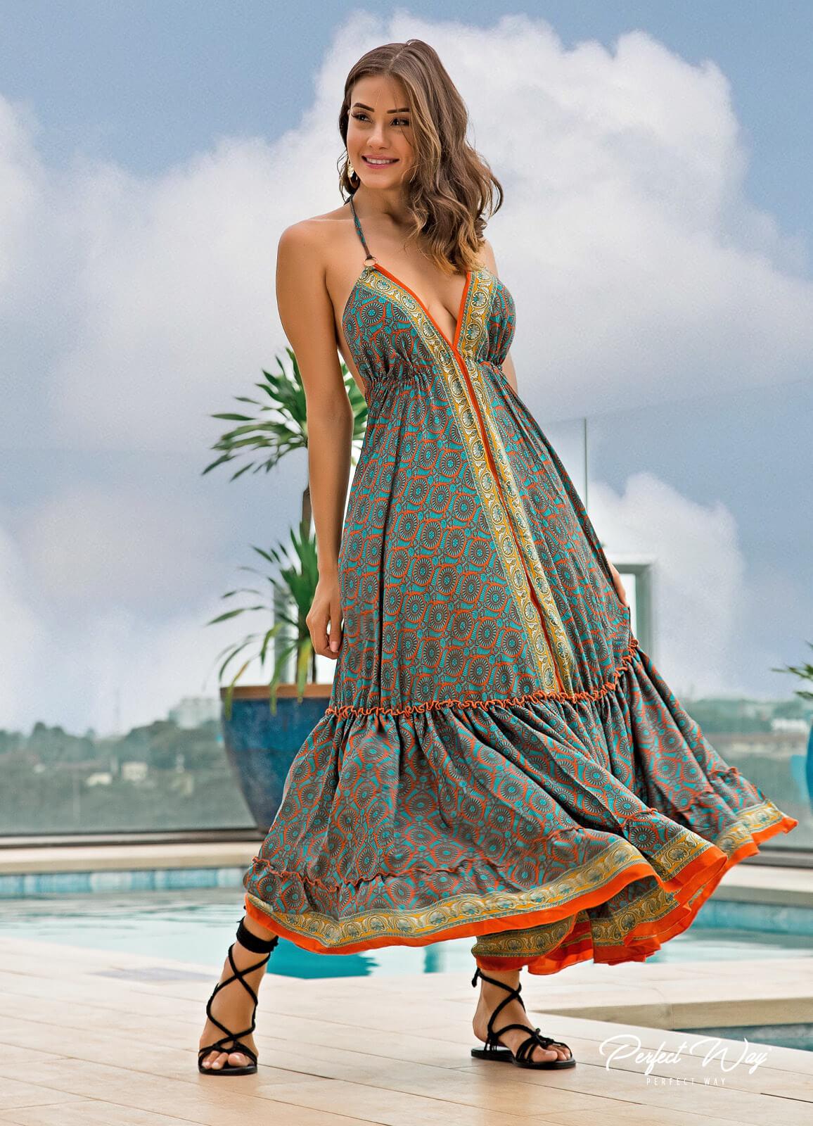 vestido estampa exclusiva PERFECT WAY