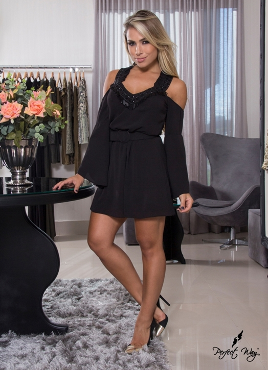 Perfect Way - VESTIDO BORDADO + CINTO