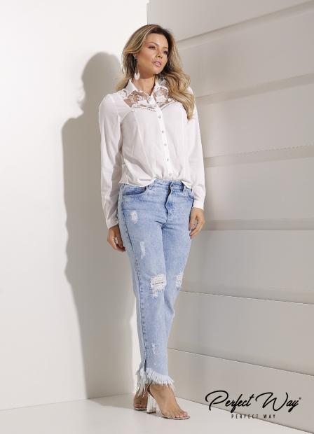 Perfect Way - CALÇA jeans BOYFRIEND COM TERMOCOLANTE