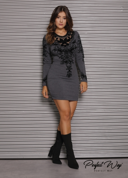 Perfect Way - VESTIDO CURTO EST. EXC. ML. BORDADO