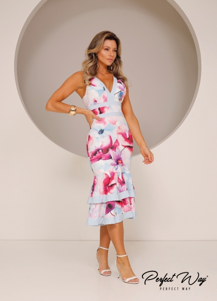 Perfect Way - VESTIDO MIDI EST. EXC. FLORAL