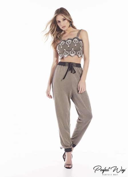 Perfect Way - CONJUNTO CROPPED BORDADO + CALÇA