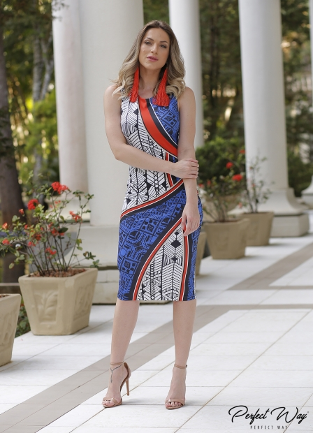 Perfect Way - VESTIDO EST. EXC. midi COM ABERTURA  ATRAS