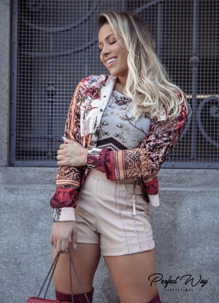 Perfect Way - BODY COM ESTAMPA EXCLUSIVA ABELHA BORDADO  + TOP