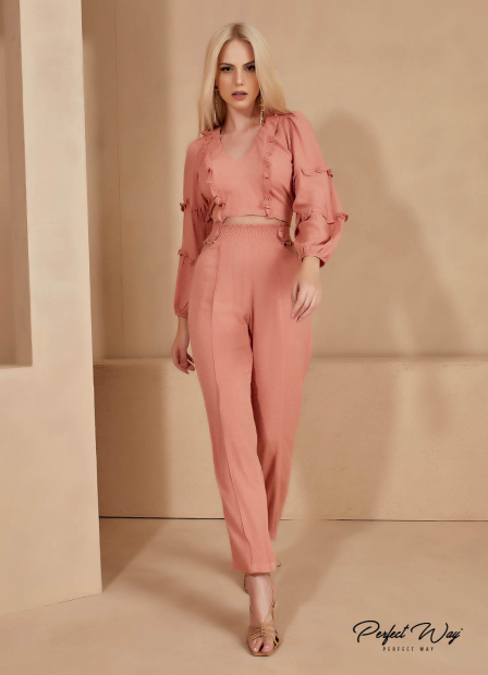 Perfect Way - conjunto  cropped + calça