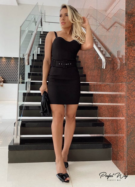 Perfect Way - vestido justo + cinto
