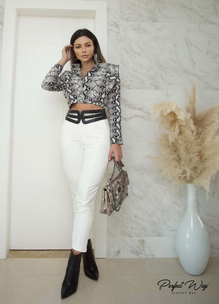 Perfect Way - BLAZER CROPPED C/ ELASTICO BARRA