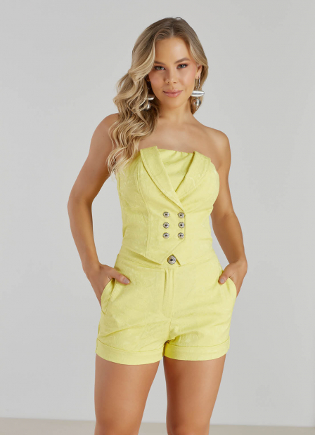 Perfect Way - conjunto alfaiataria top + shorts