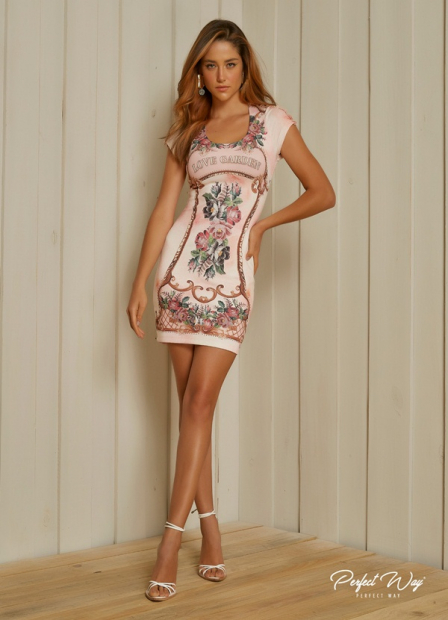 Perfect Way - VESTIDO ESTAMPA EXCLUSIVA LOVE GARDEN