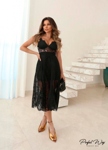Perfect Way - VESTIDO MIX EM RENDAS E TULE