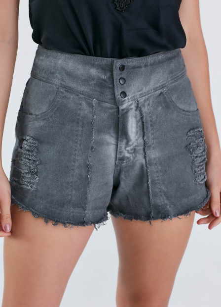 Perfect Way - SHORTS JEANS DESFIADO