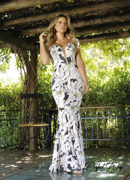 Perfect Way - VESTIDO EST. EXC. LONGO FLORAL