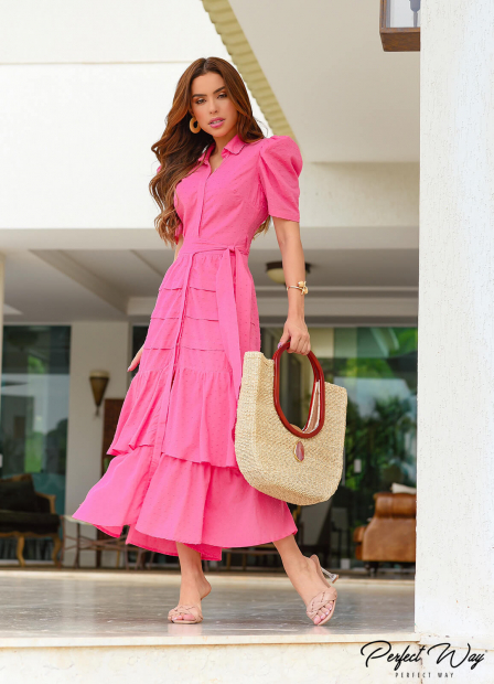 Perfect Way - VESTIDO MIDI COM BABADO