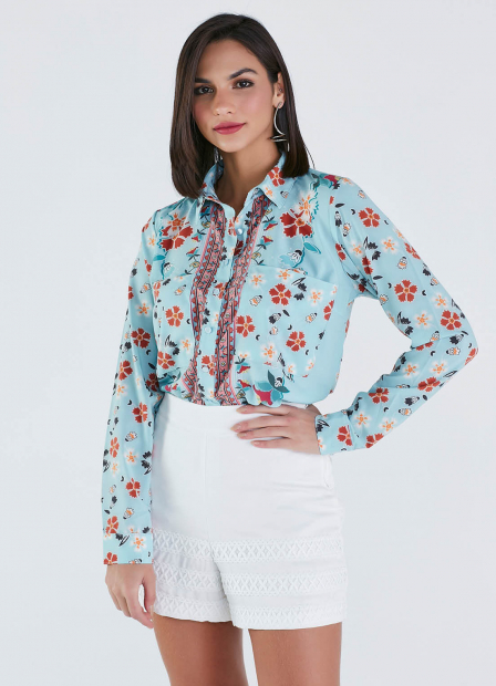 Perfect Way - CAMISA EST. EXC. ML. FLORAL