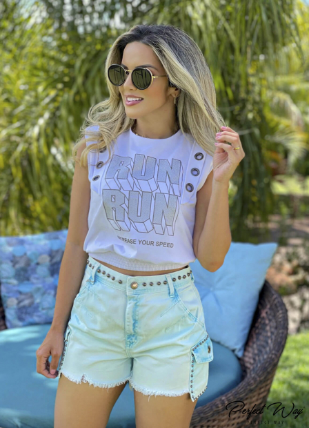 Perfect Way - T-SHIRT CROPPED ESTAMPA EXCLUSIVA