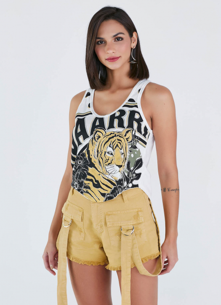 Perfect Way - CROPPED MULLET ESTAMPA EXCLUSIVA TIGRE